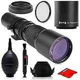 スーパー500mm / 1000mm f/8 マニュアル望遠レンズ Nikon D5、D4S、DF、D4、D3X、D810、D800、D750、D700、D610、D500、D300、D90、D7200、D7100、D5500、D5300、D5200、D5100、D3300、D3200 デジタル一眼カメラ