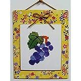手芸キット★美濃和紙・ちぎり絵壁掛け「葡萄」