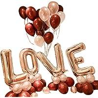 【ギフティ】かわいい love バルーン インスタ映え 誕生日 パーティ イベント 風船 ギフト プレゼント 飾り付け ウエディング プロポーズ (銀loveピンク)