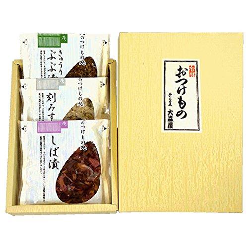 京つづり (京都 京漬物セット:刻みすぐき漬・しば漬・きゅうり ぶぶ漬) お中元ギフト