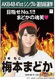 【梅本 まどか】AKB48 僕たちは戦わない 41st シングル選抜総選挙 劇場盤限定 ポスター風生写真 SKE48チームE