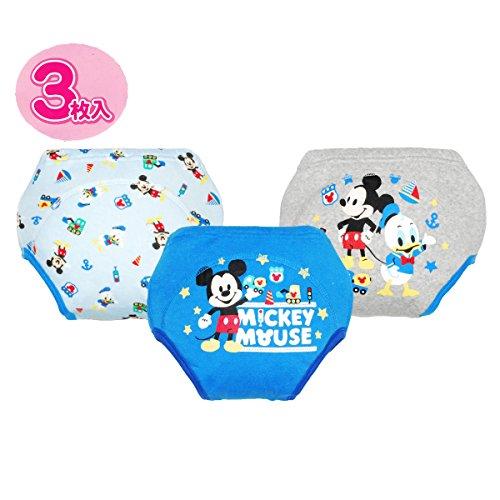 ☆★ディズニー【 Disney】★☆ヒップにミッキーキャラクター防水加工3層トレーニングパンツ3枚組 (95cm, ミッキー)