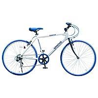 GRAPHIS(グラフィス)GR-001 クロスバイク 26インチ 6段変速 可動式ステム (ホワイトブルー)