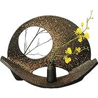 信楽焼 しがらき物語 卓飾り・一輪差し付(全高29.5cm×全幅41.5cm)写真の植物は付属いたしません