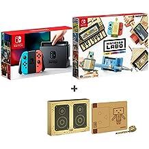Nintendo Switch Joy-Con (L) ネオンブルー/ (R) ネオンレッド + 【Amazon.co.jp限定】Nintendo Labo (ニンテンドー ラボ) Toy-Con : Variety Kit +オリジナルマスキングテープ+専用おまけパーツセット