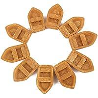 Sharplace ドールハウス 箱庭用 樹脂製 ミニチュア 蒸気船 L 10個 お世話パーツ 装飾用品