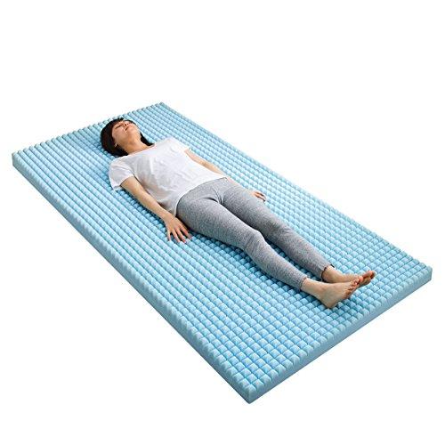 1830個以上の点で眠りを深化させる 【エアキューブ】 特殊立体凹凸構造マットレス 高反発 点で支えて体圧分散 血行障害を緩和 3D特殊カットで熱がこもりにくい 10cm厚 (シングル)