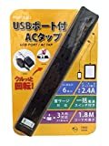 ファーゴ ACタップ 電源タップ USBポート付 PT602BK