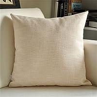 VANCORE 暖しい純色 北欧のシンプルデザイン 無地クッションカバー 亜麻 座布団 車やソファー用枕カバー(7色4サイズ) 60*60 ベージュ