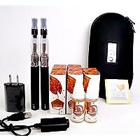 電子タバコ eGO-T CE-4 本体2本セット&リキッド10本付き!オリジナルステッカー封入。大容量1100mAh キャリングケース 電子たばこ 安心検査済みリキッド 禁煙グッズ (タバコリキッド10本セット)
