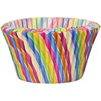 Cupcake Creations Jumbo Rainbow Swirl Baking Cups, Multicolor by Cupcake Creations