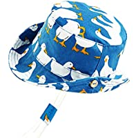 "ORVINNER Baby Boy Girl Sun Hat Cotton, Lightweight Toddler Beach Bucket Hats UPF 50+ Breathable Kids Summer Play Hat for Safari - - M:19.6"" (12-24 Months)"