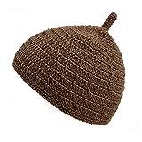 (カジュアルボックス)CasualBox ベビー REOM コットン どんぐりワッチ 5色 ベビーサイズ 赤ちゃん ニット帽 出産祝いニットキャップ charm チャーム (ブラウン)
