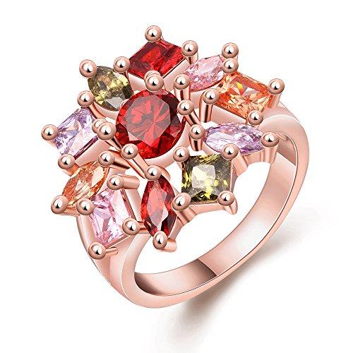 [해외]Rockyu 브랜드 인기 여성 핑크 골드 반지 14 호 남성 아버지의 날 핑크 골드 캐주얼 CZ/Rockyu brand popular ladies pink gold rings 14 number men`s father`s day pink gold casual CZ