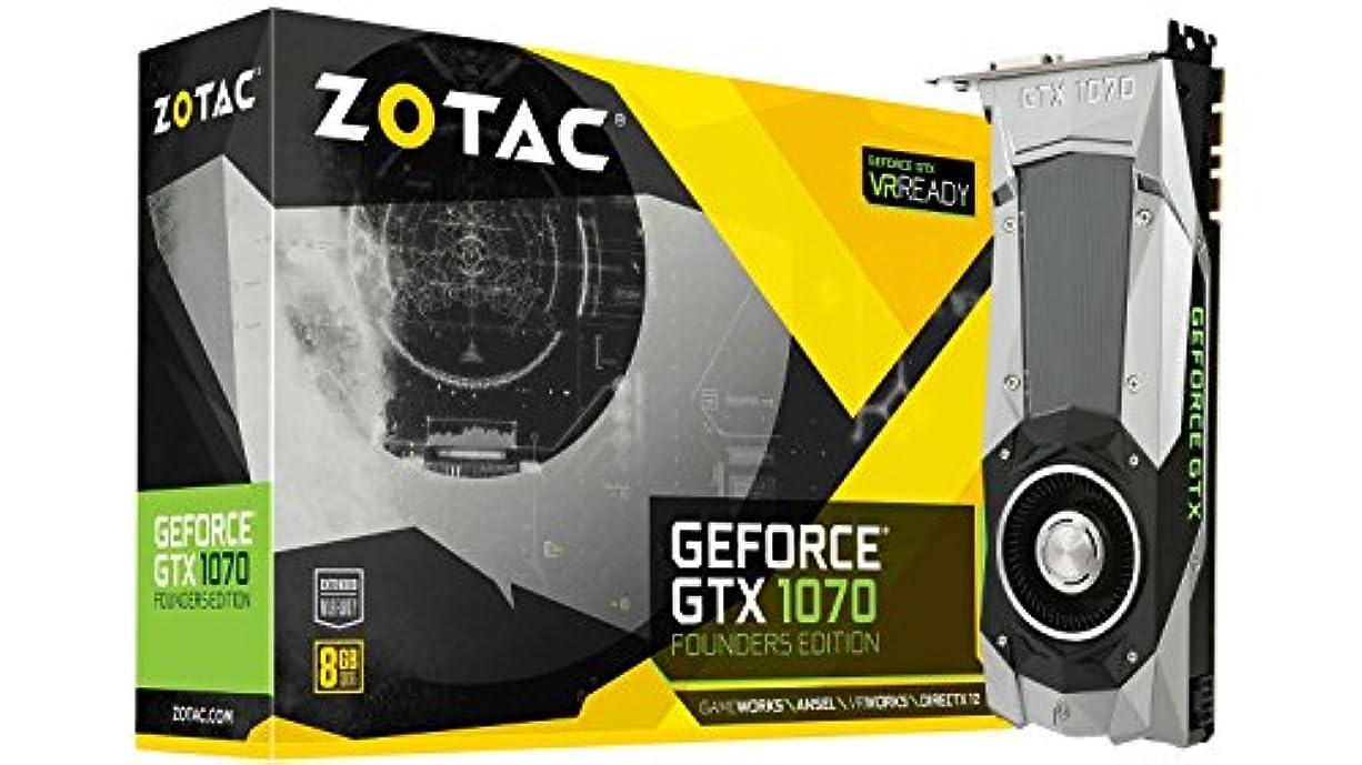 リーチ事務所忠実ZOTAC GeForce GTX 1070 Founders Edition, ZT-P10700A-10P, 8GB GDDR5 PCI Express 3.0 Dual-link DVI-I Display Port, HDMI