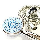 多機能 シャワーヘッド マッサージ ミスト シャワー ホース フック セット(5モード レギュラーセット)