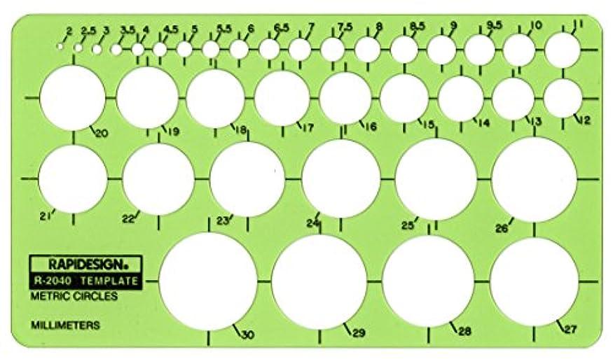 したがって家具焼くRapidesign Metric Circles Template, 1 Each (R2040) by RAPIDESIGN