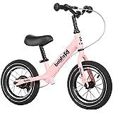 バランスバイク 手動ブレーキ付きキッズバランスバイク - 2、3、4、5、6歳用キッズ自転車、軽量空気入りタイヤ (Color : Pink)