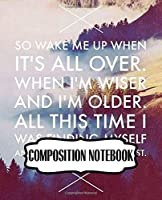 Composition Notebook: Avicii Wake Me Up EDM Music Composition Notebook Cute Drawing Photo Art Incredible Soft Glossy Wide Ruled Fantastic with Ruled Lined Paper for Taking Notes Writing Workbook for Teens and Children Students School Kids