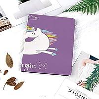 IPadケース スマートカバー アイパッドケース タブレットカバー アイパッド第四世代 第三世代 雲と虹の図妖精のイメージと神話の動物