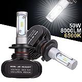 GreenClick H7 車検対応 LEDヘッドライト 50W (25W x2) 8000LM (4000LM x2) 6500k 高輝度CSPチップ搭載