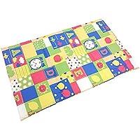 西川 リビング 日本製 洗える ベビー お昼寝 敷布団 70×120×2cm ブロック 柄