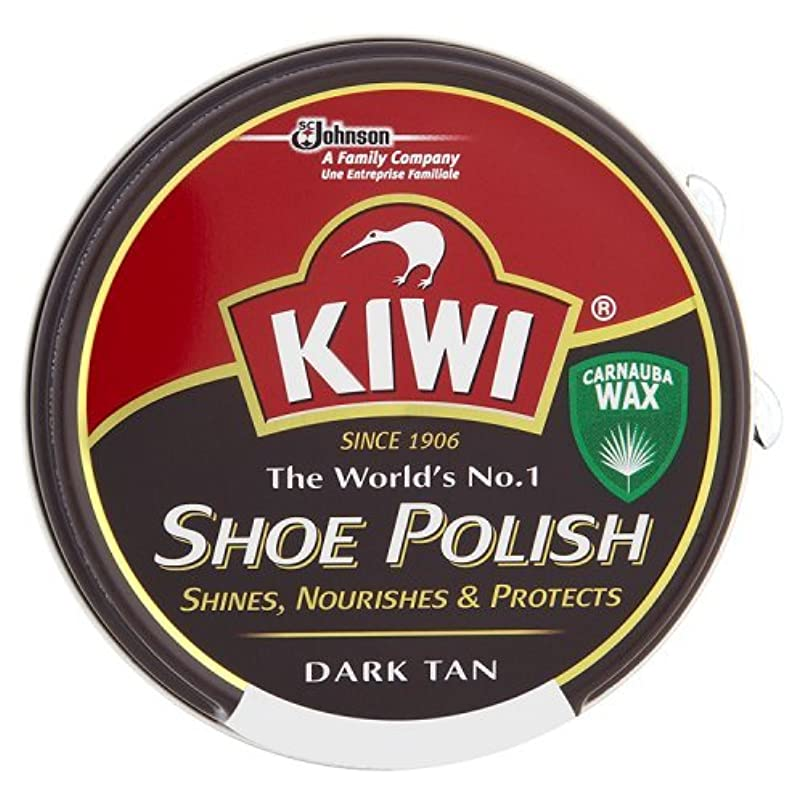強度伝導率青写真キィウイ 靴クリーム 中缶 濃茶色(ダークタン) 50ml