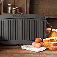 The Pioneer Woman Timeless Cast Iron Pre-Seasoned Reversible Grill/Griddle, Black by The Pioneer Woman