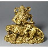 財運をもたらす武財神「寒単爺」:『封神演義』の趙公明 黄銅像