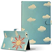 igcase iPad mini 4 mini 5 用 Apple アップル iPad アイパッド iPadmini4 タブレット 手帳型 タブレットケース タブレットカバー カバー レザー ケース 手帳タイプ フリップ ダイアリー 二つ折り 直接貼り付けタイプ 007396 その他 空 太陽 イラスト 雲