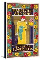 Mandeville and King–優れたフラワーSeedsヴィンテージポスター(アーティスト: Rhead ) USA C。1897 23 1/4 x 36 Gallery Canvas LANT-3P-SC-63023-24x36