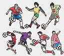アップアップ(upup)DIY大人気サッカーアイロン接着パッチワッペンサッカープレーヤー7枚セット (サッカー)