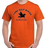 BriscoブランドCamp Half Blood Greek Mythology Gods映画ギフトアイデア面白いTシャツ US サイズ: XL カラー: オレンジ