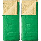 Coleman(コールマン) 寝袋 パフォーマーII/C10(グリーン/イエロー) 2000027261 + パフォーマーII/C10(グリーン/イエロー) 計2点セット