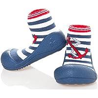 Attipas Marine Anchor Pre Walker Baby Shoes, Red, Medium