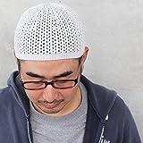 EdgeCity (エッジシティー) ホールガーメント イスラムワッチ 日本製 イスラム帽 島精機 無縫製 シームレス 帽子 イスラムキャップ ドラロン