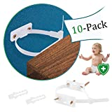 Wall Anchors for Furniture, 10 Pack Anti Tip Furniture Kit, Bearing 133Ib Nylon Straps Earthquake Straps for Cabinet, Dresser, Bookcases & Baby Proofing Safety