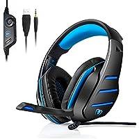 GM-3 PC ゲーミグヘッドセットヘッドホン高集音性マイク付PS4 FPS New Xbox One スマートホン等に対応ゲーム用COD スカイプ Skype パソコン可能ブルー  [並行輸入品]