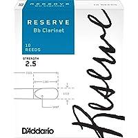 D'Addario  リード レゼルヴ スタンダード B♭クラリネット 強度:2.5(10枚入) ファイルドカット DCR1025