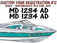 カスタムビニールボートWatercraft登録番号IDステッカー