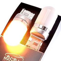 ぶーぶーマテリアル ムラなく光るウインカー T20 極性フリー LED アンバー オレンジ 2個 12-24V
