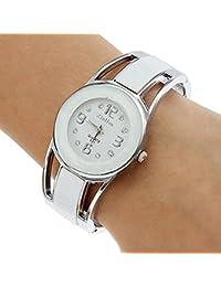 Sanwooddeals レディース 腕時計 ブレスレット 腕輪タイプ ウォッチ (ホワイト)