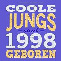 Coole Jungs sind 1998 geboren: Cooles Geschenk zum 21. Geburtstag Geburtstagsparty Gaestebuch Eintragen von Wuenschen und Spruechen lustig / Design: Spruch lustig Vintage Retro