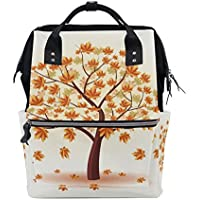 ママバッグ マザーズバッグ リュックサック ハンドバッグ 旅行用 紅葉柄 木 ファション