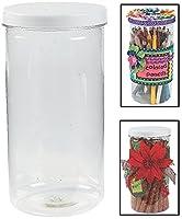 "Tall Jars with Twist On / Off蓋。( 12パック) 8"" x 4。」プラスチック。"