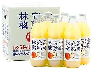 津軽完熟林檎ジュース白ラベル 1000ml×6本