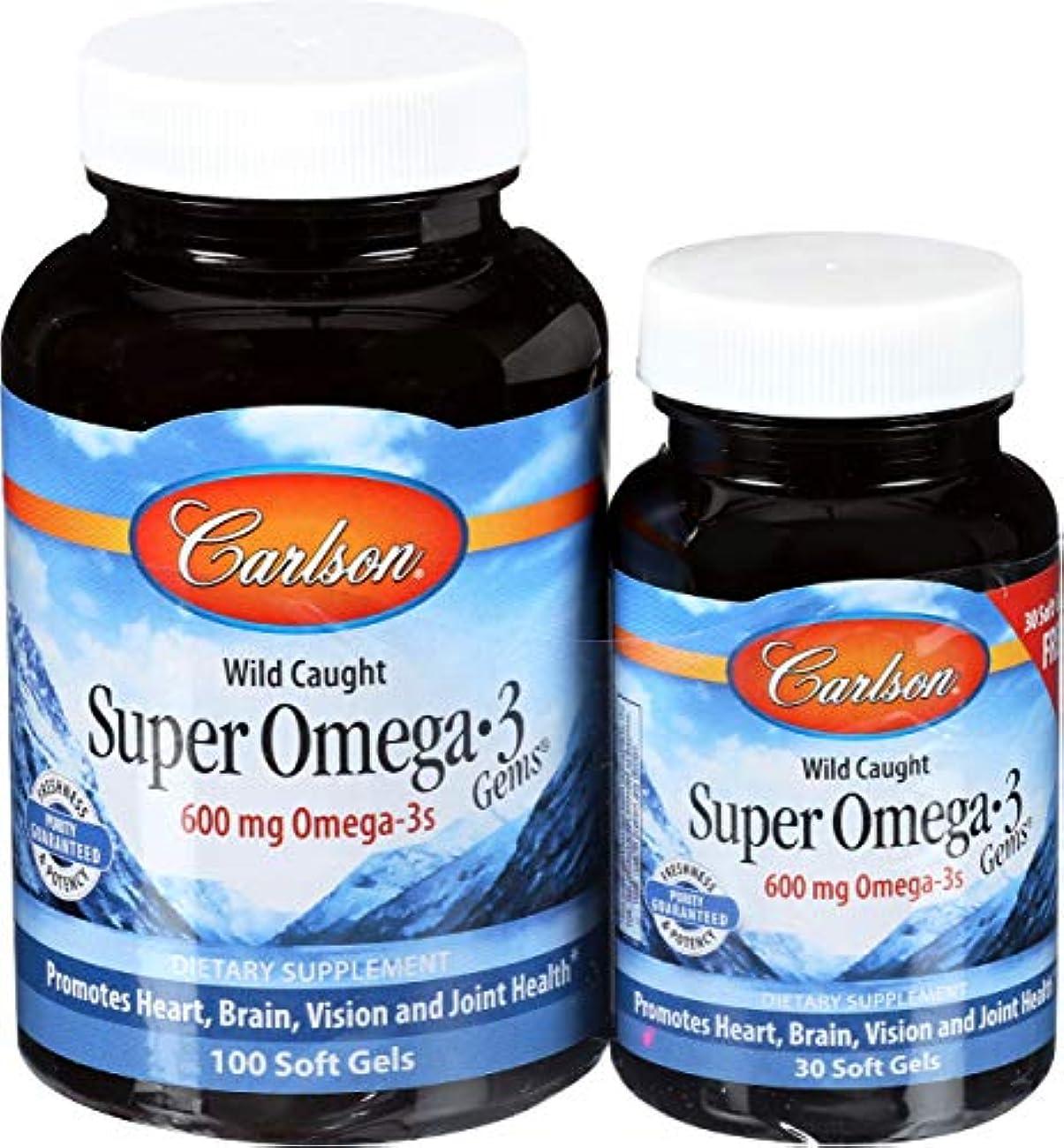 祈り風刺暗殺Carlson Labs, Super Omega?3 Gems, Fish Oil Concentrate, 1000 mg, 100 Soft Gels + Free 30 Soft Gels
