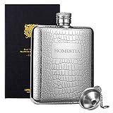 Homestia スキットル 175ml 携帯 フラゴン 滑り止め ヒップフラスコ 高級感 おしゃれ ウイスキー 清酒 ボトル テンレス鋼