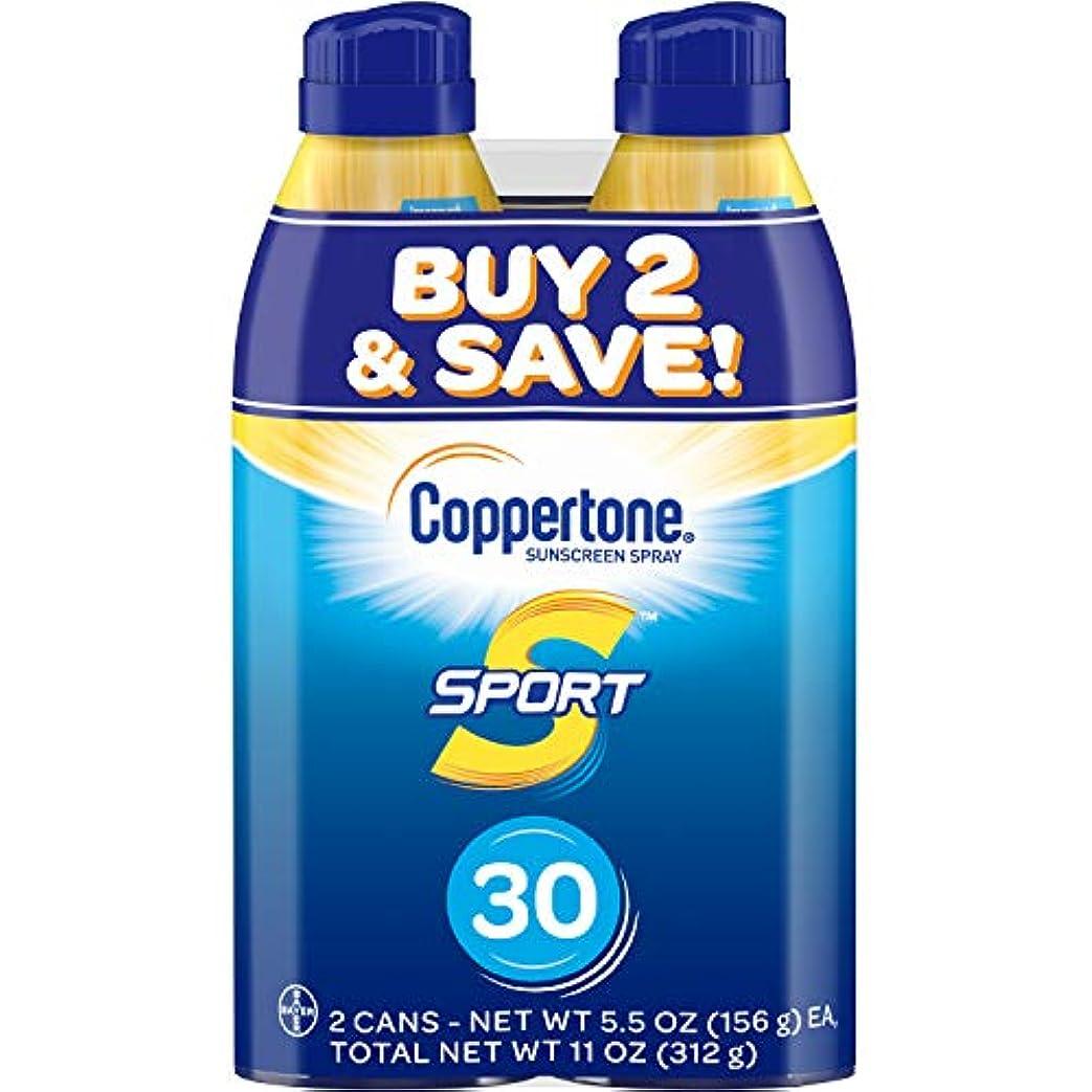 報復タブレット天のCoppertone スポーツ連写日焼け止め広域スペクトルSPFスプレー30(5.5オンスボトル、ツインパック)