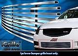 ステンレススチールegrilleビレットグリルグリル2007–2008日産マキシマバンパー挿入